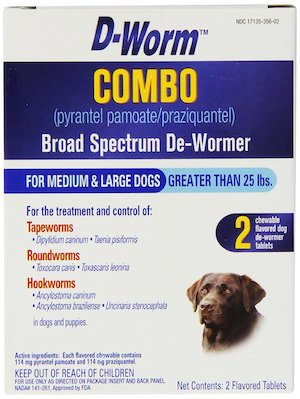 Dog canine dewormer