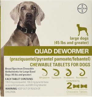 Dog dewormer